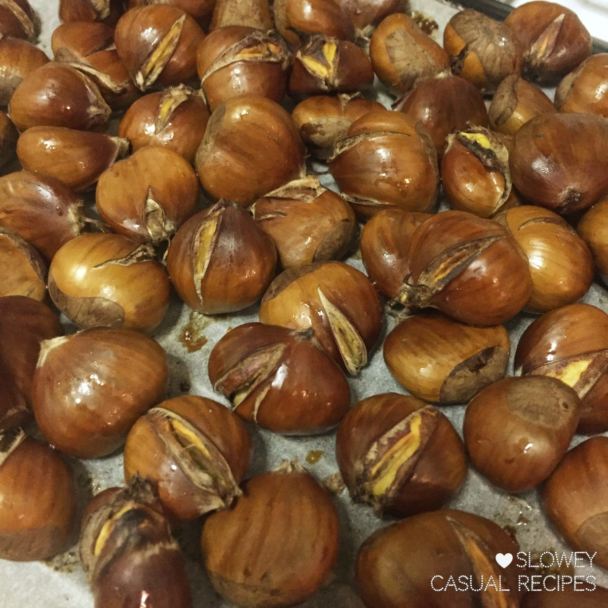 Oven roasted honey chestnuts what are we having tonight for Something different to eat tonight